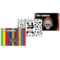 Blok rysunkowy GIMBOO Vip mix 2015, A4, 20 kart., 80gsm, biały, mix wzorów, Bloki, Szkoła 2015