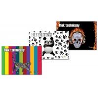 Blok techniczny GIMBOO Vip mix 2015, A4, 10 kart., 150gsm, biały, mix wzorów, Bloki, Szkoła 2015