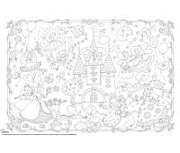 Kolorowanka podłogowa XXL MONUMI, 120x80cm, księżniczki, Produkty kreatywne, Artykuły szkolne