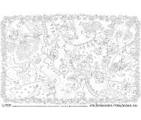 Kolorowanka podłogowa XXL MONUMI, 120x80cm, wróżki, Produkty kreatywne, Szkoła 2015