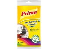 Ściereczki PRIMA Neon, 6szt., mix kolorów, Akcesoria do sprzątania, Artykuły higieniczne i dozowniki