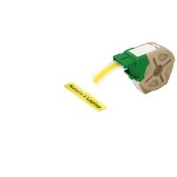 Kaseta z plastikową taśmą do drukowania etykiet 12mm Leitz Icon, żółta, Akcesoria do drukarek do ikon, Urządzenia i maszyny biurowe