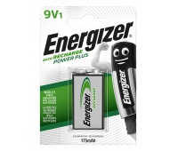 RECHARGEABLE ENERGIZER POWER PLUS 9V/1 PCS