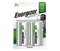 RECHARGEABLE ENERGIZER POWER PLUS D/2 PCS