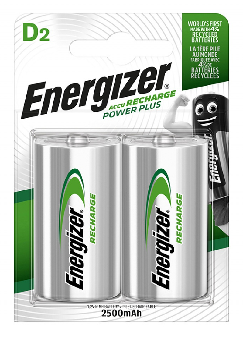 Akumulator ENERGIZER Power Plus, D, HR20, 1,2V, 2500mAh, 2szt.