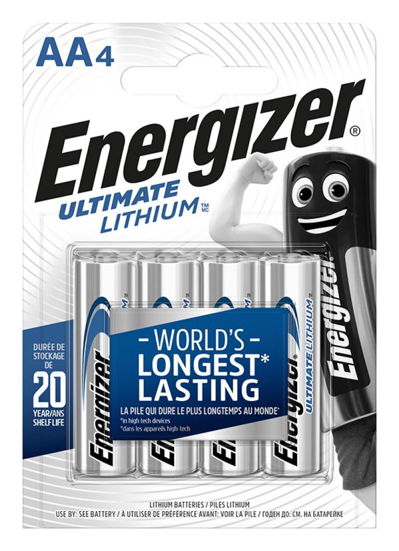 Bateria ENERGIZER Ultimate Lithium, AA, L91, 1,5V, 4szt.