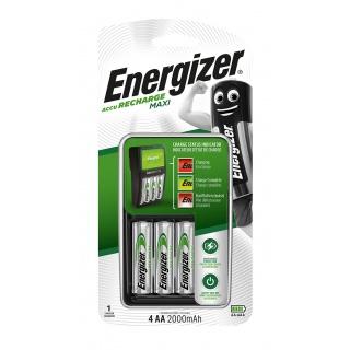 Ładowarka ENERGIZER Maxi + 4 szt. akumulatorków Power Plus AA, Akumulatorki i ładowarki, Urządzenia i maszyny biurowe