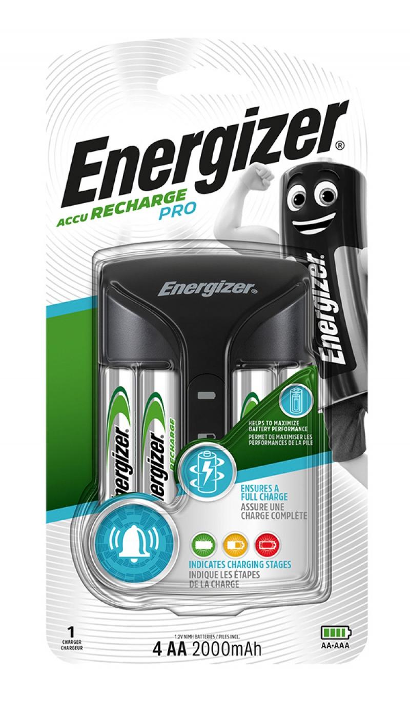 Ładowarka ENERGIZER Pro Charger + 4 szt. akumulatorków Power Plus AA, Akumulatorki i ładowarki, Urządzenia i maszyny biurowe