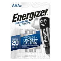 Bateria ENERGIZER Ultimate Lithium, AAA, L92, 1,5V, 2szt.
