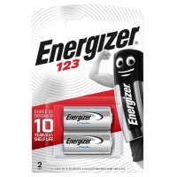 Battery, ENERGIZER Photo Lithium, 123, 3V, 2 pcs