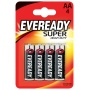 Battery, EVEREADY Super Heavy Duty, AA, R6, 1.5V, 4 pcs