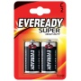 Battery, EVEREADY Super Heavy Duty, C, R14, 1.5V, 2 pcs