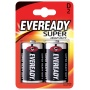 Battery, EVEREADY Super Heavy Duty, D, R20, 1.5V, 2 pcs