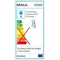 Lampka LED designerska MAULsolaris, 6W, srebrna, Lampki, Urządzenia i maszyny biurowe