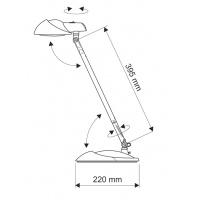 Lampka LED na biurko MAUL Storm, 7W, czarna, Lampki, Urządzenia i maszyny biurowe