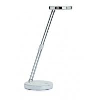 Desktop LED lamp, MAUL Puck, 5W, foldable, white