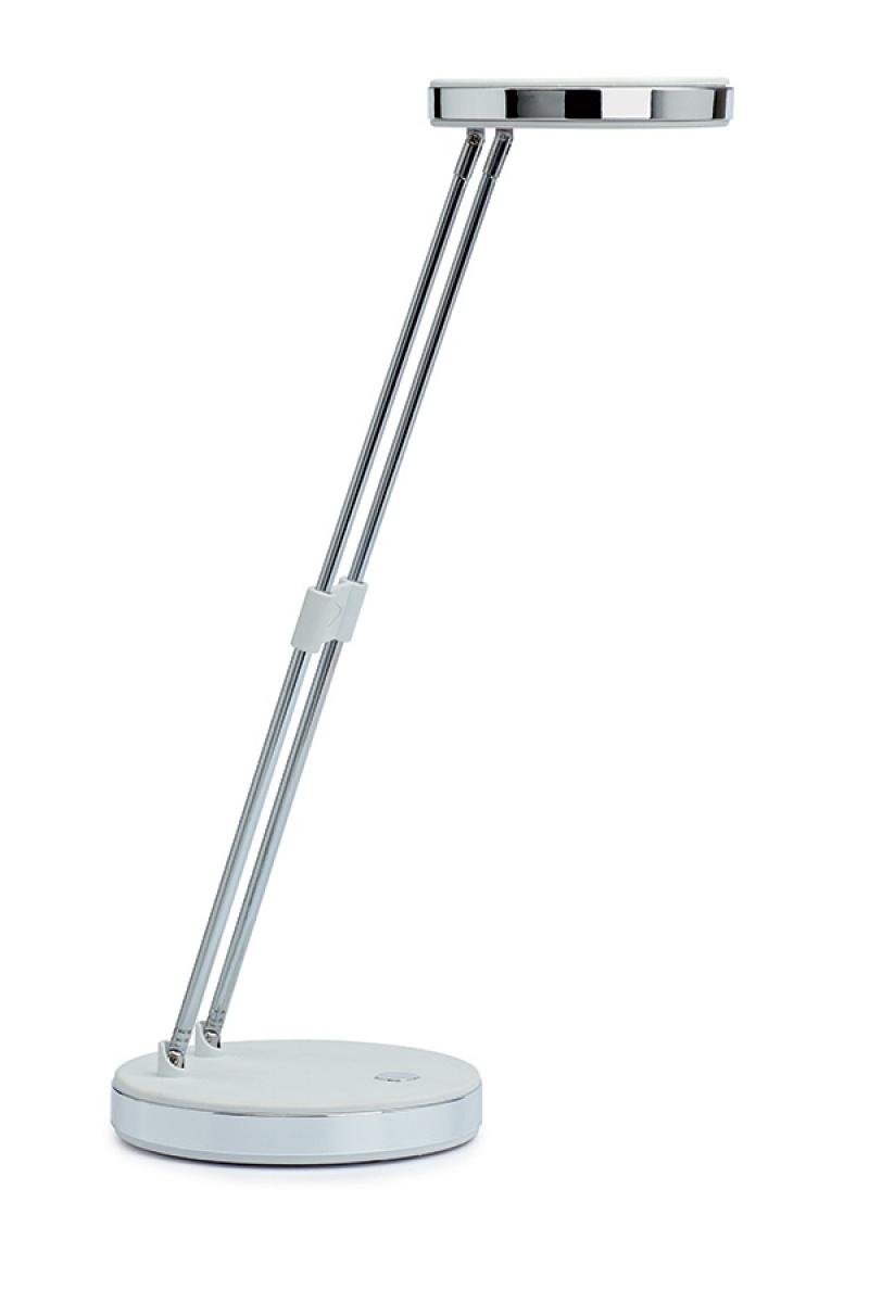 Lampka LED na biurko MAULpuck, 5W, składana, biała, Lampki, Urządzenia i maszyny biurowe