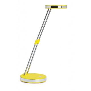 Lampka LED na biurko MAULpuck, 5W, składana, żółta, Lampki, Urządzenia i maszyny biurowe
