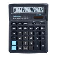 Kalkulator biurowy DONAU TECH, 12-cyfr. wyświetlacz, wym. 199x153x31 mm, czarny, Kalkulatory, Urządzenia i maszyny biurowe