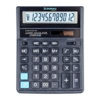 Kalkulator biurowy DONAU TECH, 12-cyfr. wyświetlacz, wym. 203x158x31 mm, czarny, Kalkulatory, Urządzenia i maszyny biurowe