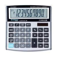Kalkulator biurowy DONAU TECH, 10-cyfr. wyświetlacz, wym. 136x134x28 mm, srebrny, Kalkulatory, Urządzenia i maszyny biurowe