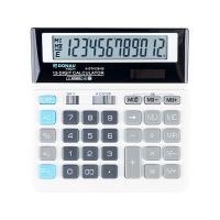 Kalkulator biurowy DONAU TECH, 12-cyfr. wyświetlacz, wym. 156x152x28 mm, biały, Kalkulatory, Urządzenia i maszyny biurowe