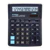 Kalkulator biurowy DONAU TECH, 14-cyfr. wyświetlacz, wym. 199x153x31 mm, czarny, Kalkulatory, Urządzenia i maszyny biurowe
