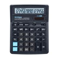 Kalkulator biurowy DONAU TECH, 16-cyfr. wyświetlacz, wym. 199x153x31 mm, czarny, Kalkulatory, Urządzenia i maszyny biurowe
