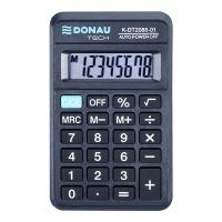 Kalkulator kieszonkowy DONAU TECH, 8-cyfr. wyświetlacz, wym. 114x69x18 mm, czarny, Kalkulatory, Urządzenia i maszyny biurowe
