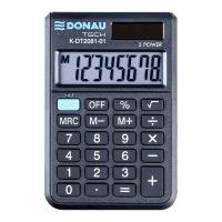 Kalkulator kieszonkowy DONAU TECH, 8-cyfr. wyświetlacz, wym. 90x60x11 mm, czarny, Kalkulatory, Urządzenia i maszyny biurowe