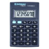 Kalkulator kieszonkowy DONAU TECH, 8-cyfr. wyświetlacz, wym. 127x104x8 mm, czarny, Kalkulatory, Urządzenia i maszyny biurowe