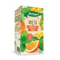 Herbata HERBAPOL Zielnik Polski, mięta z pomarańczą i mango, 20 torebek, Herbaty, Artykuły spożywcze