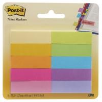 Zakładki indeksujące POST-IT® (670-10AB), papier, 12,7x44,4mm, 10x50 kart., mix kolorów, Bloczki samoprzylepne, Papier i etykiety