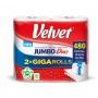 Ręcznik papierowy VELVET Jumbo Duo, 2-warstwowy, 2 rolki po 240 listków, biały