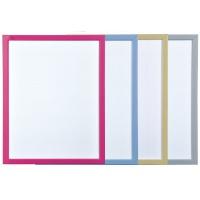 Tablica suchościeralna BI-OFFICE, 60x40cm, lakierowana, kolorowe ramy, Tablice suchościeralne, Prezentacja