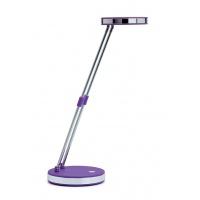 Lampka LED na biurko MAULpuck, 5W, składana, purpurowa, Lampki, Urządzenia i maszyny biurowe