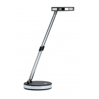 Lampka LED na biurko MAULpuck, 5W, składana, czarna, Lampki, Urządzenia i maszyny biurowe