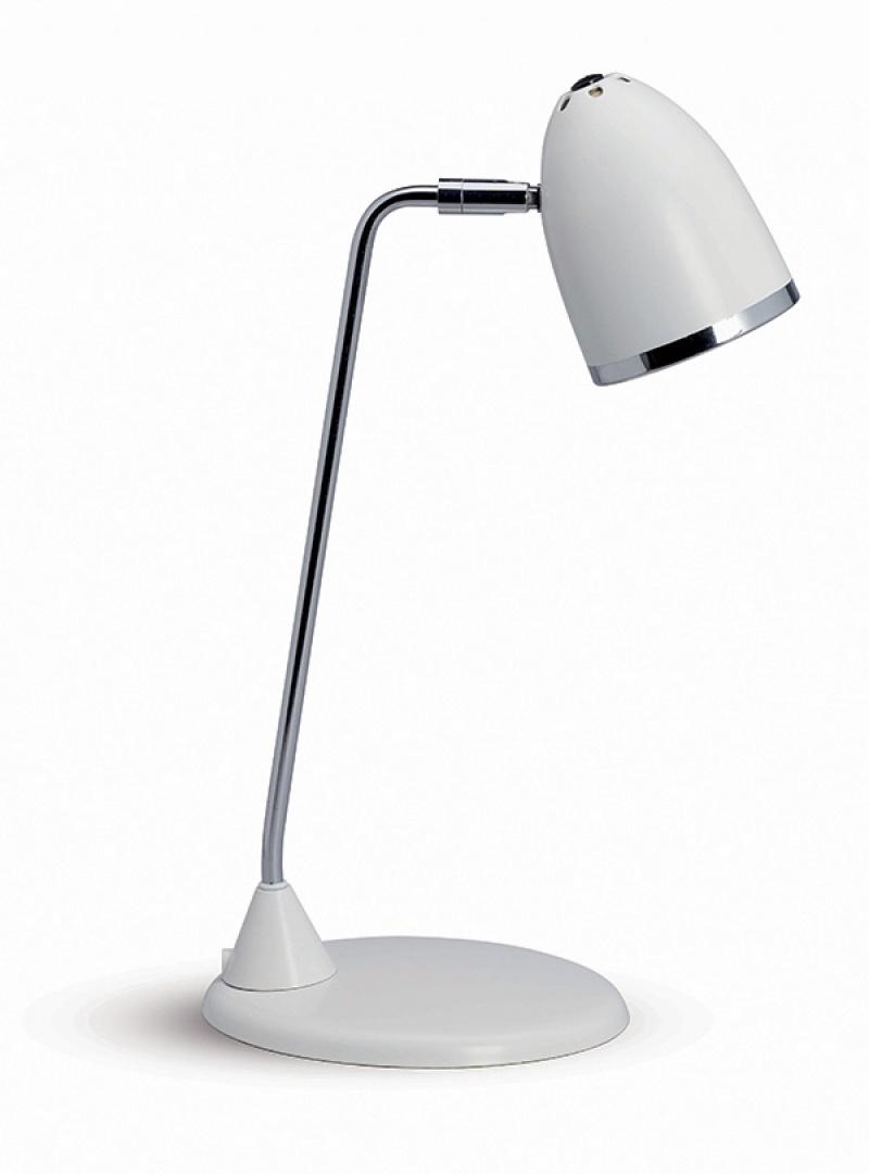 Lampka energooszczędna na biurko MAULstarlet, 8W, biała, Lampki, Urządzenia i maszyny biurowe