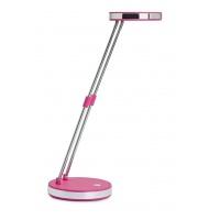 Desktop LED lamp, MAUL Puck, 5W, foldable, pink