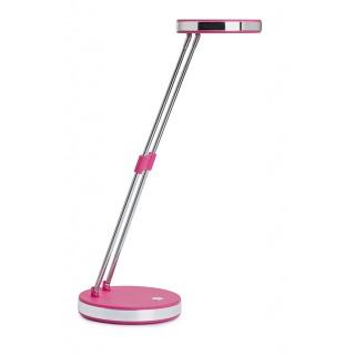 Lampka LED na biurko MAULpuck, 5W, składana, różowa, Lampki, Urządzenia i maszyny biurowe