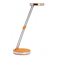 Lampka LED na biurko MAULpuck, 5W, składana, pomarańczowa, Lampki, Urządzenia i maszyny biurowe