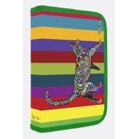 Piórnik szkolny GIMBOO Vip Art Cat z wyposażeniem, 1 komora, 2 przekładki, mix kolorów, Piórniki, Szkoła 2015