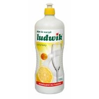 Płyn do mycia naczyń LUDWIK Cytryna, 1l, Środki czyszczące, Artykuły higieniczne i dozowniki