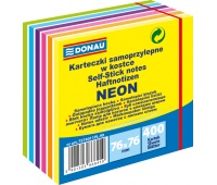 Kostka samoprzylepna DONAU, 76x76mm, 1x400 kart., mix kolorów, Bloczki samoprzylepne, Papier i etykiety