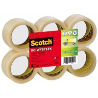 Packaging tape for shipping, SCOTCH® Hot-melt (371), 50mm, 66m, transparent