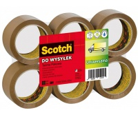Packaging tape for shipping, SCOTCH® Hot-melt (371), 50mm, 66m, brown