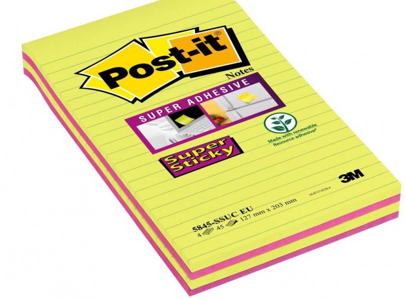 karteczki, bloczek, notes, karteczki samoprzylepne, post it, bloczek samoprzylepny, post-it, samoprzylepne, samoprzylepny, kartki samoprzylepne, karteczki samoprzylepny, bloczki, karteczki post-it, postit, BLOCZEK, super sticky, 5845-SSUC, XXXL