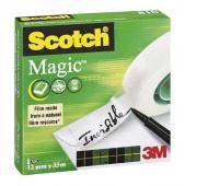 Office tape, SCOTCH® Magic™ (810), matt, 12mm, 33m