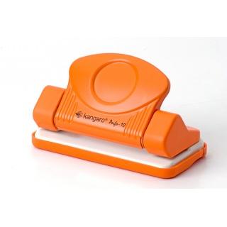 Dziurkacz KANGARO Perfo 10, dziurkuje do 10 kartek, pomarańczowy, Dziurkacze, Drobne akcesoria biurowe