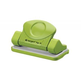 Dziurkacz KANGARO Perfo 10, dziurkuje do 10 kartek, zielony, Dziurkacze, Drobne akcesoria biurowe